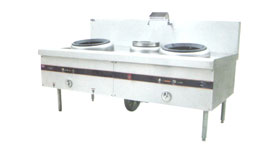 Chinese Gas Stove Double Stove w/ Single Water Pot